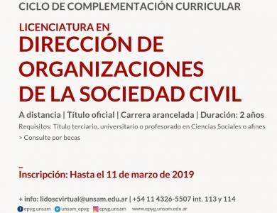 Licenciatura en Direccion de Organizaciones de la Sociedad Civil